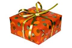 pudełkowatego prezenta złoty faborek zdjęcie royalty free