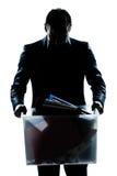 pudełkowatego przewożenia ciężka mężczyzna portreta sylwetka Obraz Stock