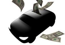 pudełkowatego samochodu dolara pieniądze Obraz Royalty Free