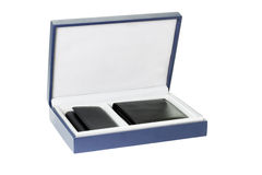 pudełkowatego skrzynka prezenta klucza nowy portfel Zdjęcia Royalty Free