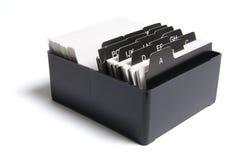 pudełkowatej kartoteki wskaźnik Zdjęcie Stock