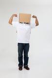 pudełkowatej pokrywy mężczyzna fotografia stock