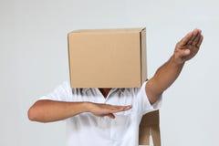 pudełkowatej pokrywy mężczyzna zdjęcie royalty free