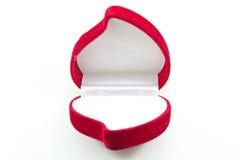 pudełkowatej zaręczynowej czerwieni różany jedwabniczy aksamit obrazy stock