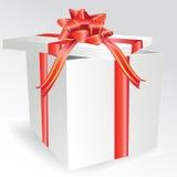 pudełkowaty łęku prezent Obrazy Stock