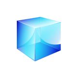 Pudełkowaty błękitny glansowany Zdjęcia Royalty Free