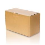 pudełkowaty brąz zakończenia papier Obrazy Royalty Free