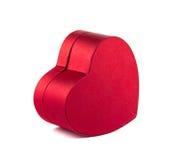 Pudełkowaty czerwony serce na białym tle Obrazy Royalty Free