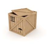pudełkowaty drewniany Obraz Royalty Free
