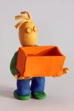 pudełkowaty gliniany mężczyzna wzorowanie Fotografia Stock