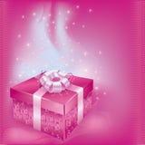 pudełkowaty karciany świąteczny prezent Zdjęcia Royalty Free