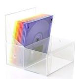 pudełkowaty koloru dysków floppy odizolowywał Fotografia Stock