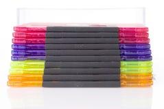 pudełkowaty koloru dysków floppy odizolowywał Obraz Stock
