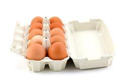 pudełkowaty kurczaka jajek dziesięć biel Fotografia Stock