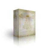 pudełkowaty mężczyzna szablon vitruvian Zdjęcie Royalty Free