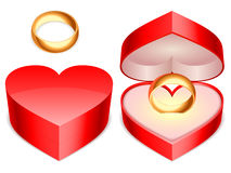 pudełkowaty pierścionek royalty ilustracja
