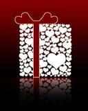 pudełkowaty prezent odizolowywająca miłość Obrazy Royalty Free