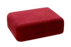 pudełkowaty prezent odizolowywający biżuterii czerwieni powierzchni aksamit obrazy royalty free
