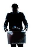 pudełkowaty przewożenie podpalająca ciężka mężczyzna portreta sylwetka Fotografia Royalty Free