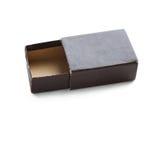 pudełkowaty stary papier rozpieczętowanego, brown koloru pusty zbiornik, miękkie ogniska, Odbitkowa przestrzeń, makro- widok obraz stock
