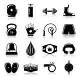Pudełkowaty walk ikon czerń Obrazy Royalty Free