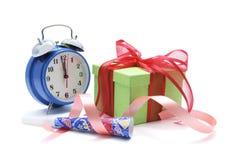 pudełkowaty zegarowy prezent obraz royalty free