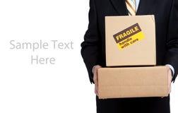 pudełkowatych busines odbitkowa mienia mężczyzna przestrzeń Zdjęcie Royalty Free