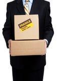 pudełkowatych busines odbitkowa mienia mężczyzna przestrzeń Obraz Stock