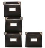 pudełek etykietek biurowa praca Obrazy Stock
