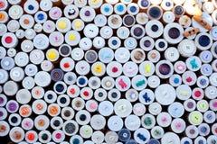 pudełek guzików kolorowy pokazu wzór kolorowy Obrazy Royalty Free