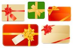 pudełek kart prezent Obraz Royalty Free