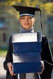pudełek kobiety absolwenta sterty potomstwa Obraz Stock