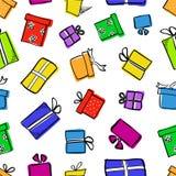pudełek prezenta wzór bezszwowy Fotografia Royalty Free