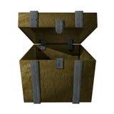 pudełka drewniany otwarty Fotografia Royalty Free