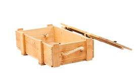 pudełka drewniany pusty Zdjęcia Royalty Free