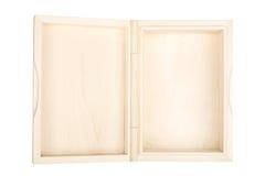 pudełka drewniany pusty otwarty obraz royalty free
