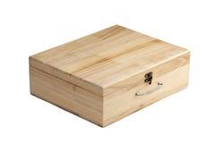 pudełka odizolowywali drewnianego Obrazy Royalty Free