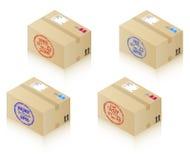pudełka target323_1_ znaczki Obraz Stock
