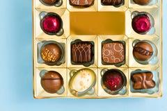 Pudełko czekolady Zdjęcia Stock
