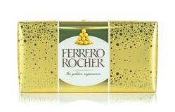 Pudełko Ferrero Rocher cukierki fotografia stock