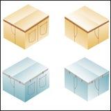 Pudełko, karton dla cajgów Fotografia Stock