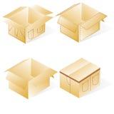 Pudełko, karton dla cajgów Obrazy Royalty Free