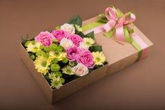 pudełko kwitnie prezent Obraz Royalty Free