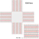 pudełko ornamentuje szablon Zdjęcie Stock