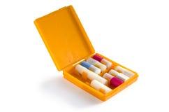 Pudełko z puszkami   Fotografia Stock