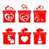 Pudełko z sercami Obraz Royalty Free