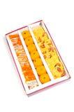 pudełkowaci indyjscy cukierki zdjęcie royalty free