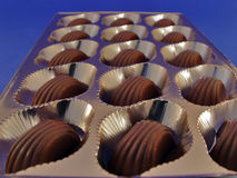 pudełkowata czekolady Zdjęcie Royalty Free