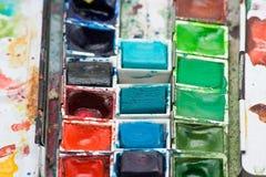 pudełkowata farba Zdjęcia Royalty Free