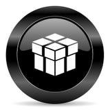 Pudełkowata ikona Zdjęcia Stock